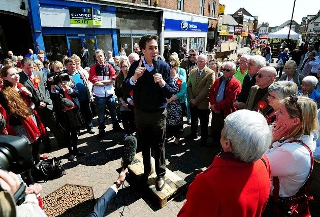 Ed Miliband on campaign trail