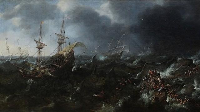 © Wikimedia commons The Battle of Lepanto, Andries van Eertvelt.