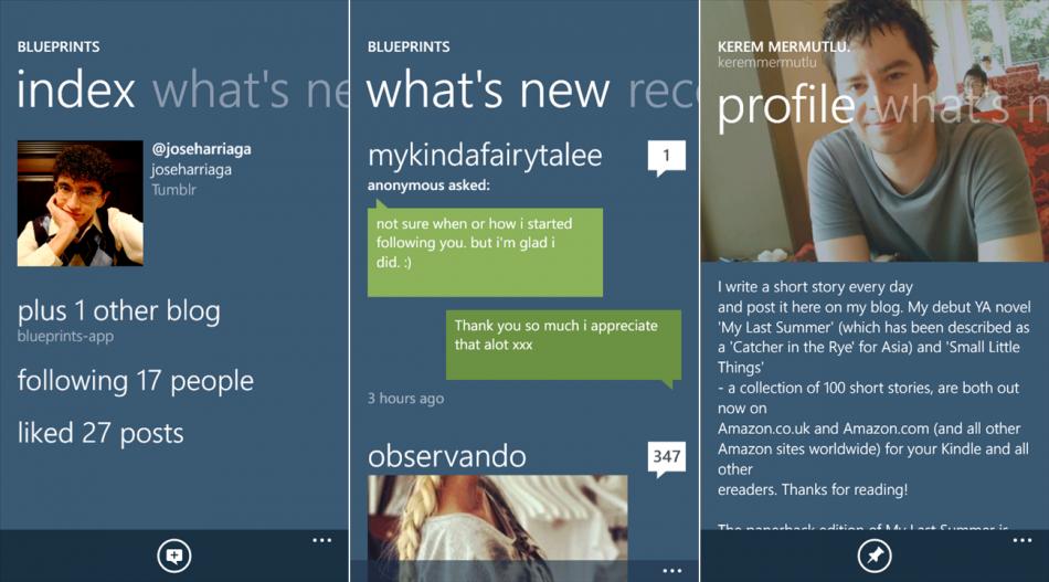 Windows phone apps Tumblr