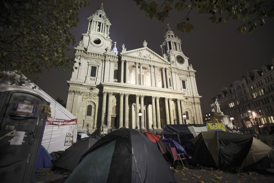 The woman accused Malcolm Blackwell of raping her during the Occupy St Paul's protests (Reuters