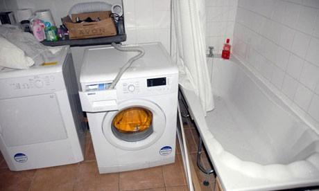 Washing machine is Bridger's home