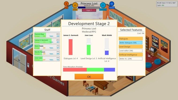 Game Dev Tycoon Mobile game of the week