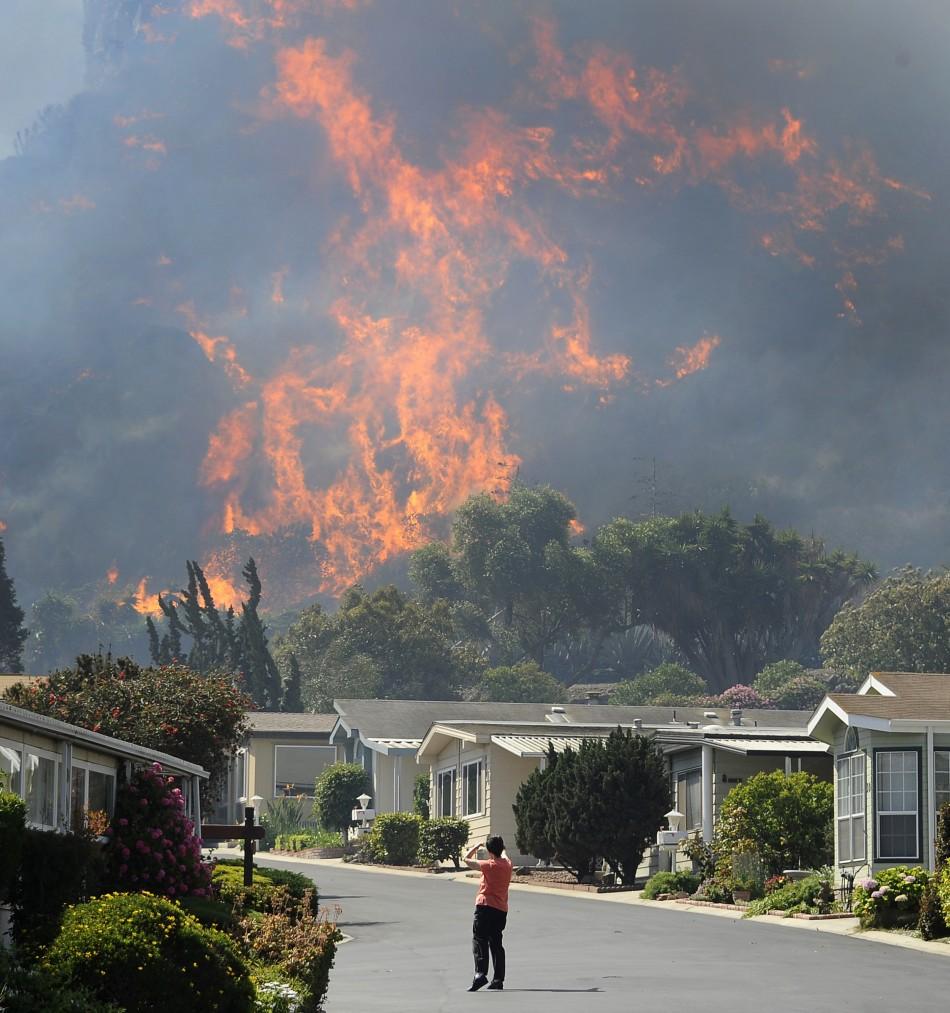 California Wildfire Threatens Upscale Malibu City Outside
