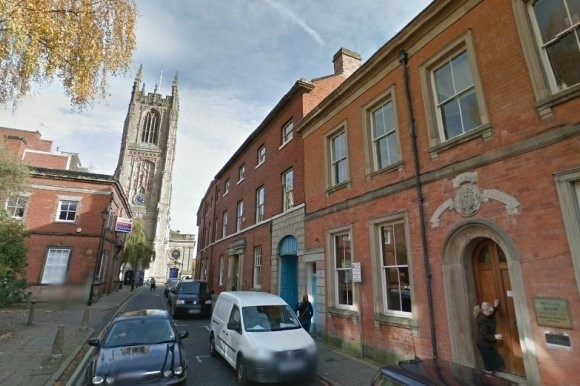 Kevin Gough's decomposing body was discovered lodged halfway up a chimney at Moody and Woolley Solicitors. (www.24dash.com)