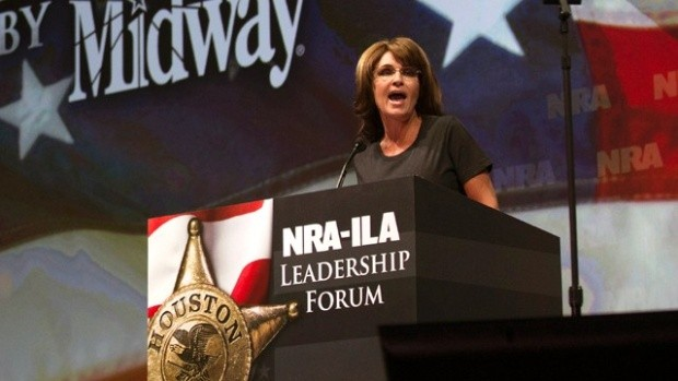 Sarah Palin addresses NRA convention.