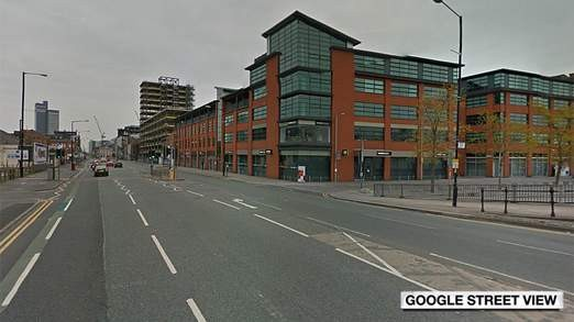 The collision occurred at the junction of Redhill street and Great Ancoats Street in Manchester.