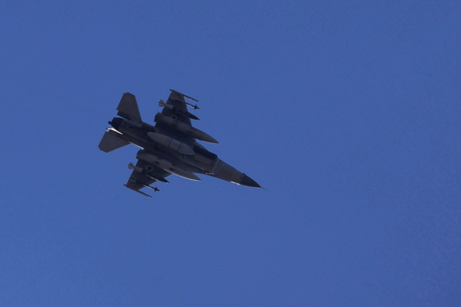 An Israeli F16 fighter jet