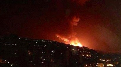 Israeli jets target the Jamraya research centre in Damascus.