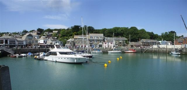 Padstow harbour, where a father and daughter were killed in a speedboat horror crash