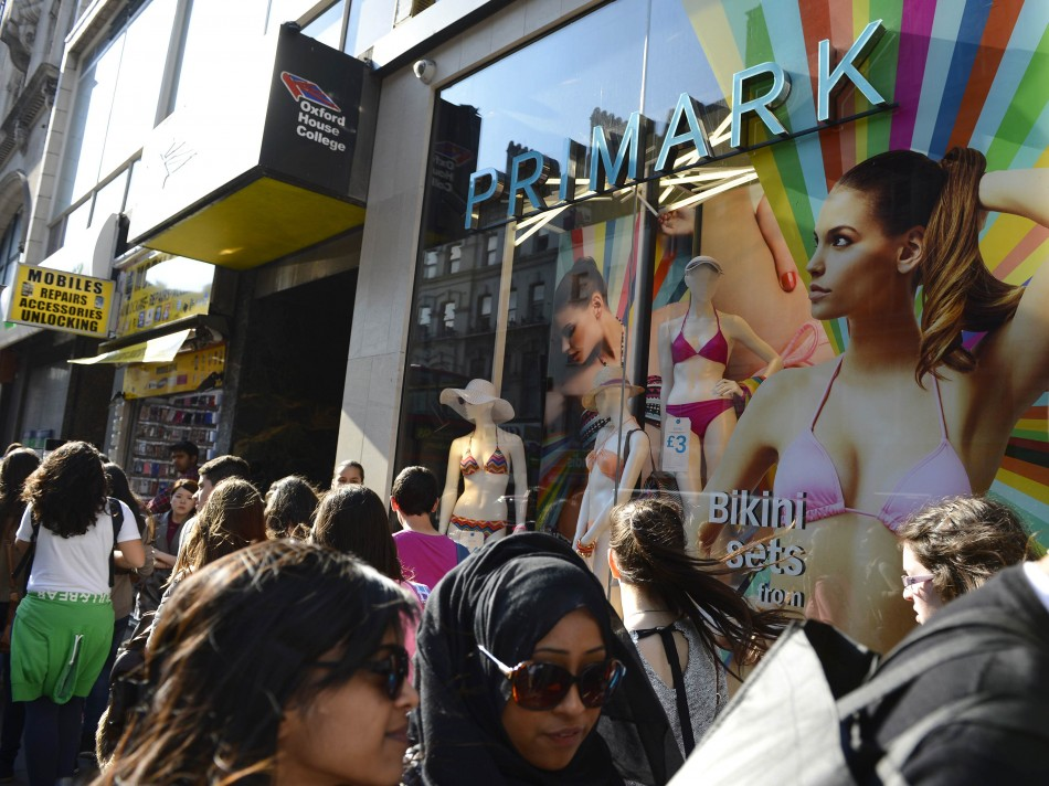 Primark clothing shop in central London