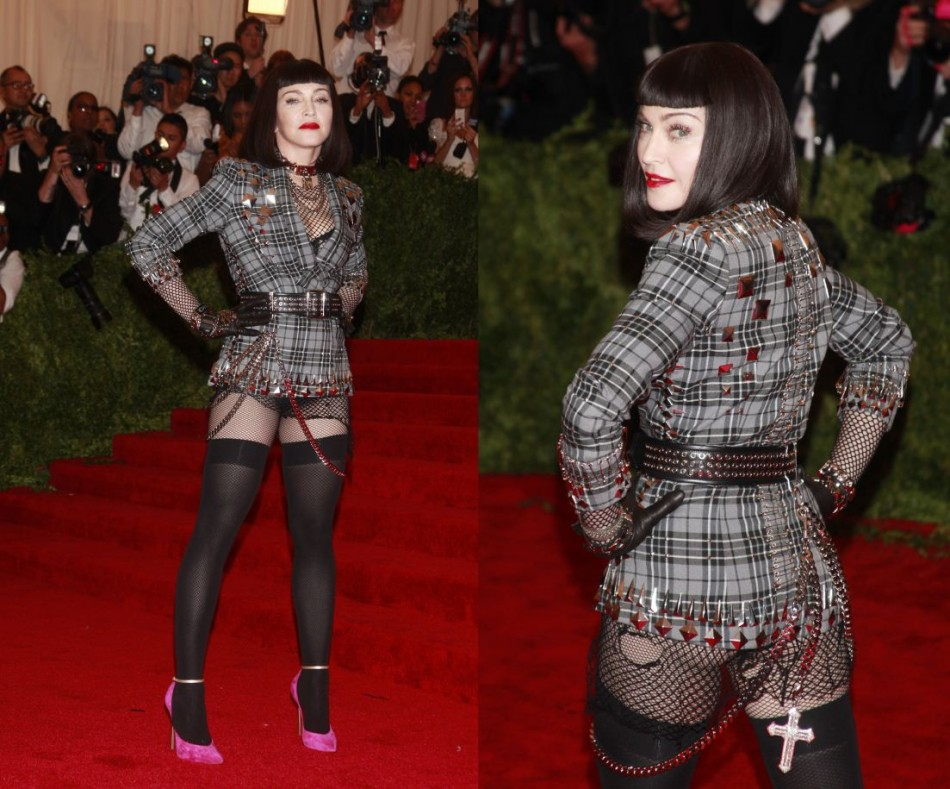 Singer Madonna arrives at the Metropolitan Museum of Art Costume Institute Benefit celebrating the opening of PUNK Chaos to Couture in New York