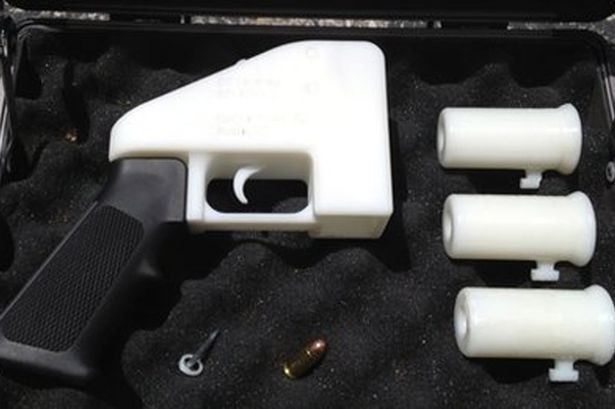 3D printed gun test fire Defense Distributed