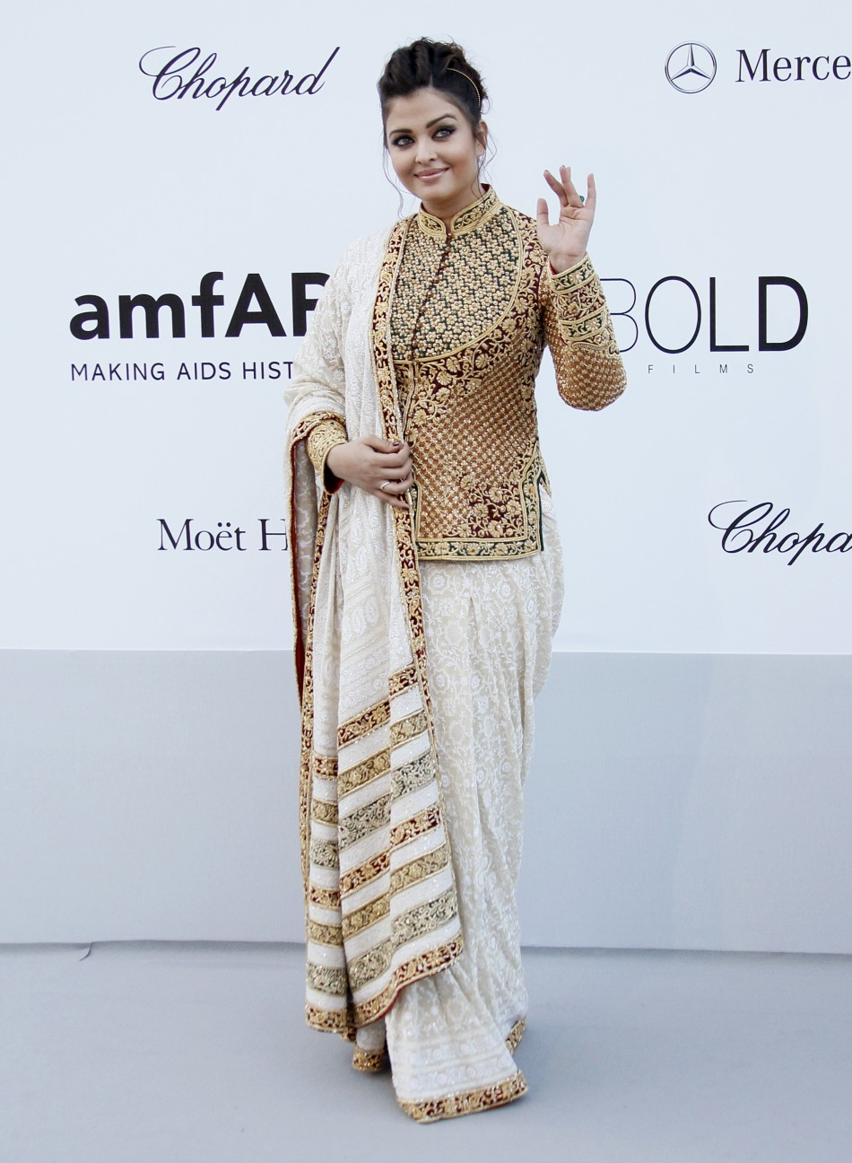 Actress Aishwarya Rai arrives for amfAR's Cinema Against AIDS 2012 event in Antibes during the 65th Cannes Film Festival May 24, 2012. (Reuters)