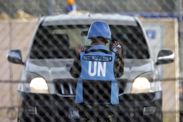 Filipino peacekeepers Syria
