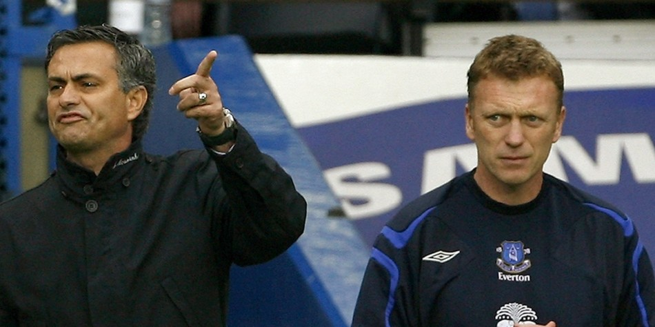 Jose Mourinho and David Moyes