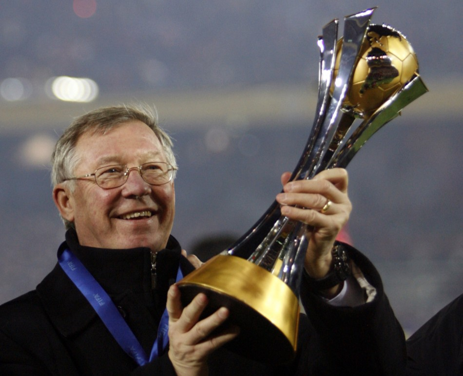 December 21 2008 Ferguson lifts the FIFA Club World Cup after their win over Ecuadors Liga Deportiva Universitaria de Quito in the final in Yokohama, south of Tokyo.