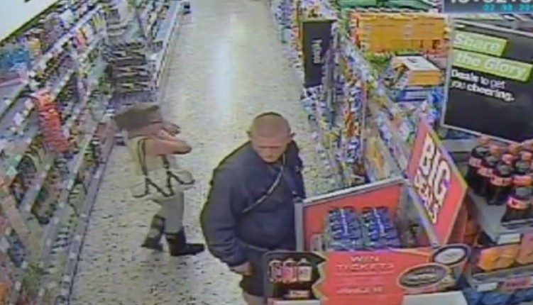 CCTV footage of Tia Sharp with Stuart Hazell from 2 August 2012, the day before she went missing