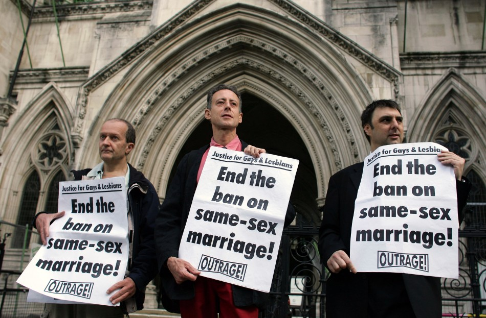 Outrage, led by veteran activist Peter Tatchell, campaigned long and hard for equal marriage rights for homosexuals