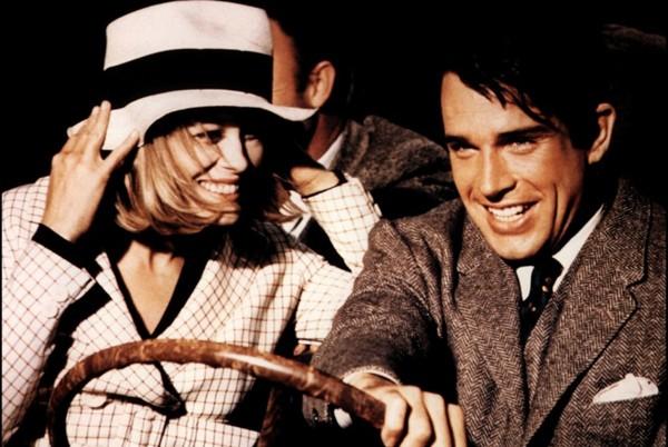 Faye Dunaway and Warren Beatty in Bonnie