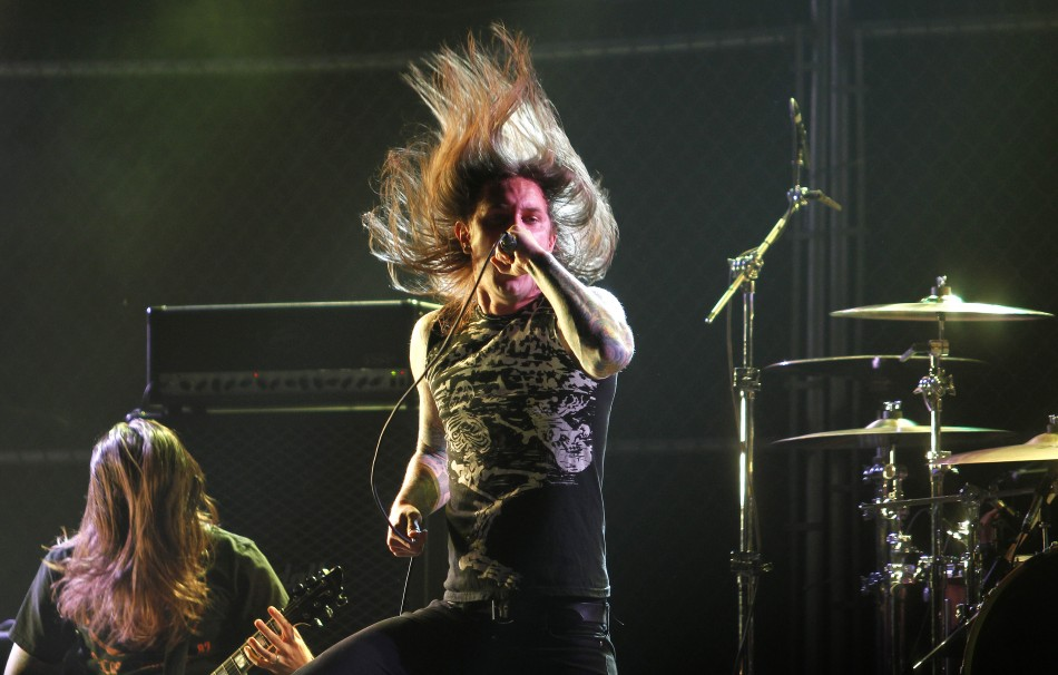 As I Lay Dying performing at the 2nd annual Golden Gods awards in Los Angeles (Reuters)