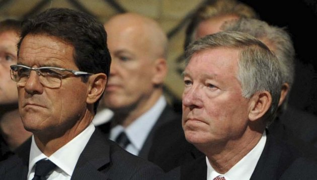 Fabio Capello and Sir Alex Ferguson