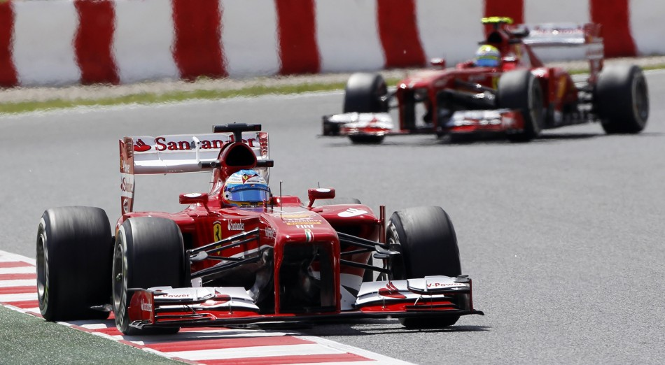 Fernando Alonso (L) and Felipe Massa [Ferrari]