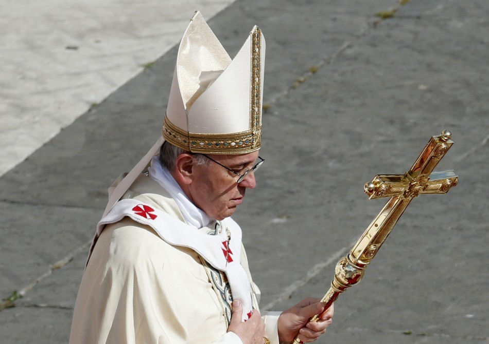 Pope Francis led a canonization mass in Saint Peter's Square at the Vatican on 12 May 2013