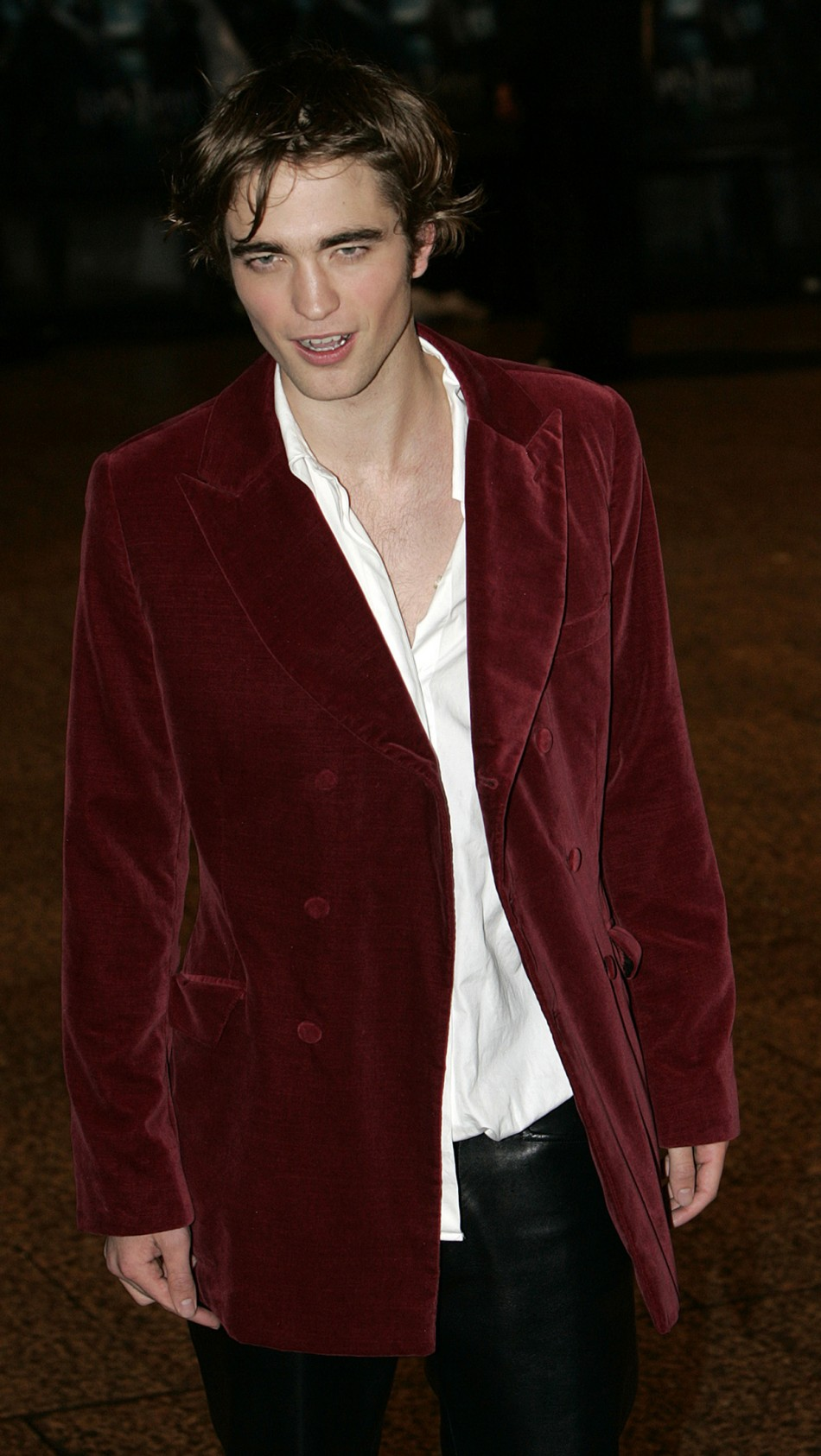 Robert Pattinson at the world premiere of Harry Potter and the Goblet of Fire