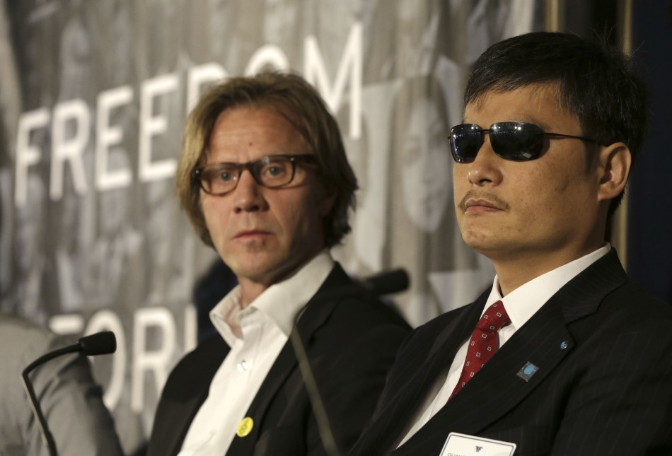 Chen guangcheng and General Secretary of Norwegian Amnesty International Jon Peder Egenaes  at Oslo Freedom Forum