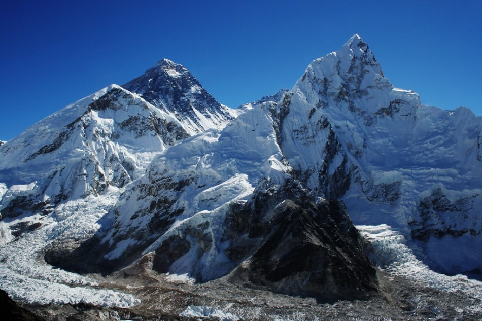 Everest's snowline has moved 180m up the mountain  in the last 50 years (Pavel Novak)