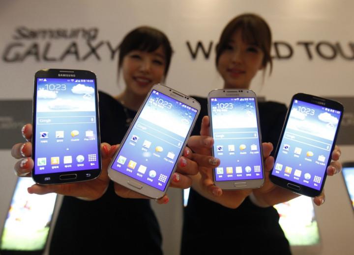 A range of Samsung smartphones