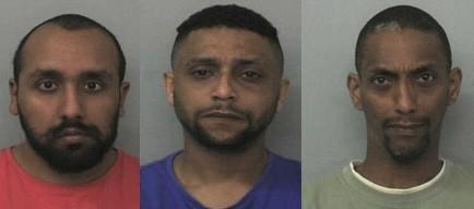 (From left) Zeeshan Ahmed, Bassam Karrar and Mohammed Karrar (Thames Valley Police)