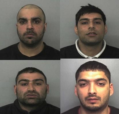 (From left) Assad Hussain, Anjum Dogar, Akhtar Dogar and Kamar Jamil (West Midlands Police)