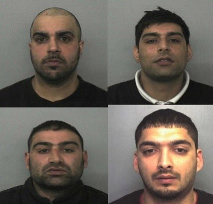 (From left) Assad Hussain, Anjum Dogar, Akhtar Dogar and Kamar Jamil (West Midlands Police)