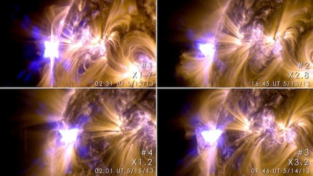 New images of solar flares from NASA