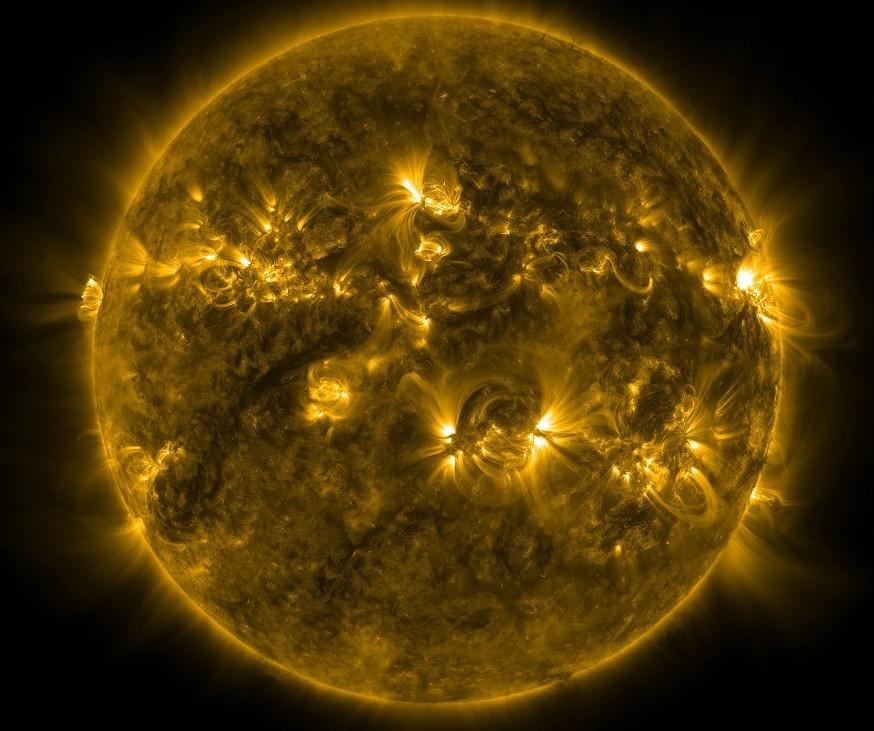 The sun, last month