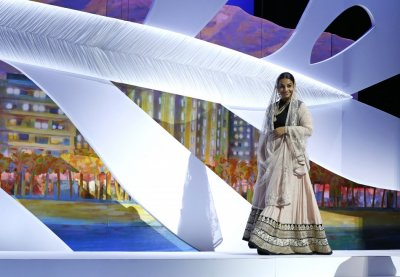 Jury member of the 66th Cannes Film Festival actress Vidya Balan arrives on stage during the opening ceremony of the 66th Cannes Film Festival in Cannes May 15, 2013.