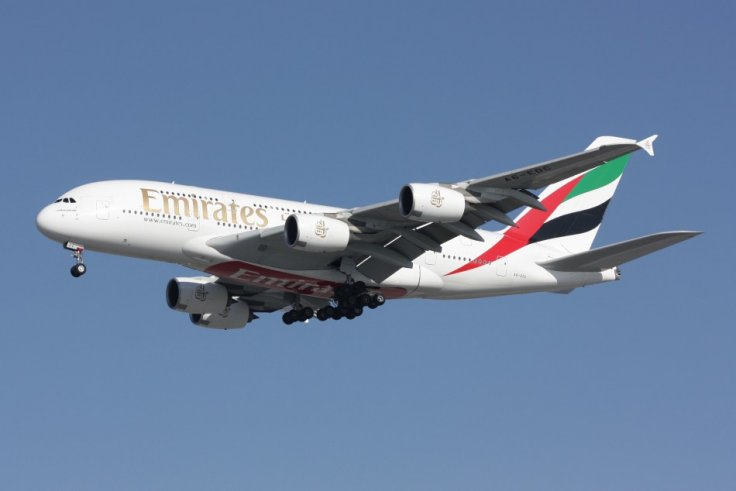 Emirates Airbus A380 on final approach to Charles De Gaulle Airport in 2010.