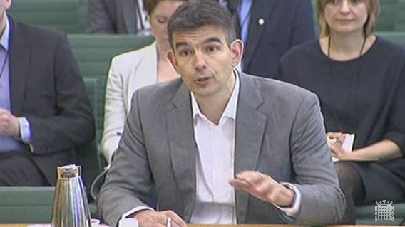 Matt Britten, Vice President for Sale and Operations, Northern and Central Europe at Google hits back at the Public Accounts Committee (Pac) on tax avoidance (Photo: Parliament TV)