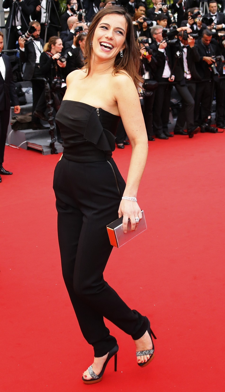 Actress Zoe Felix poses on the red carpet as she arrives for the screening of the film Jeune  Jolie Young  Beautiful in competition during the 66th Cannes Film Festival in Cannes May 16, 2013.