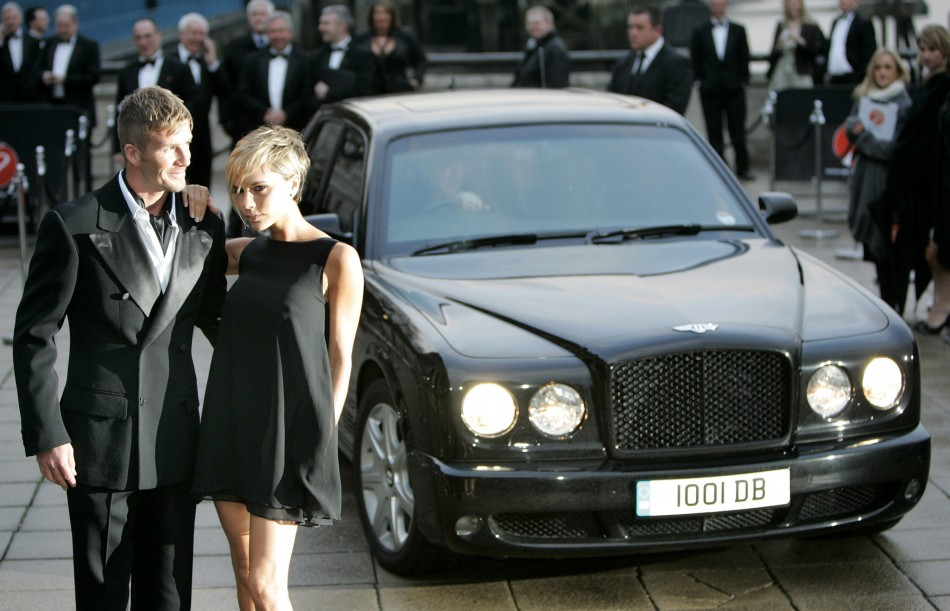 David Beckham and his wife Victoria arrive for the Sport Industry Awards 2007 at Old Billingsgate in central London March 29, 2007.