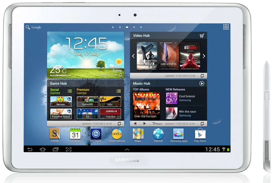 Galaxy Note 10.1 N8010 (Wi-Fi) Gets Android 4.1.2 XXUCMC1 Jelly Bean Official Update [Manually Install]