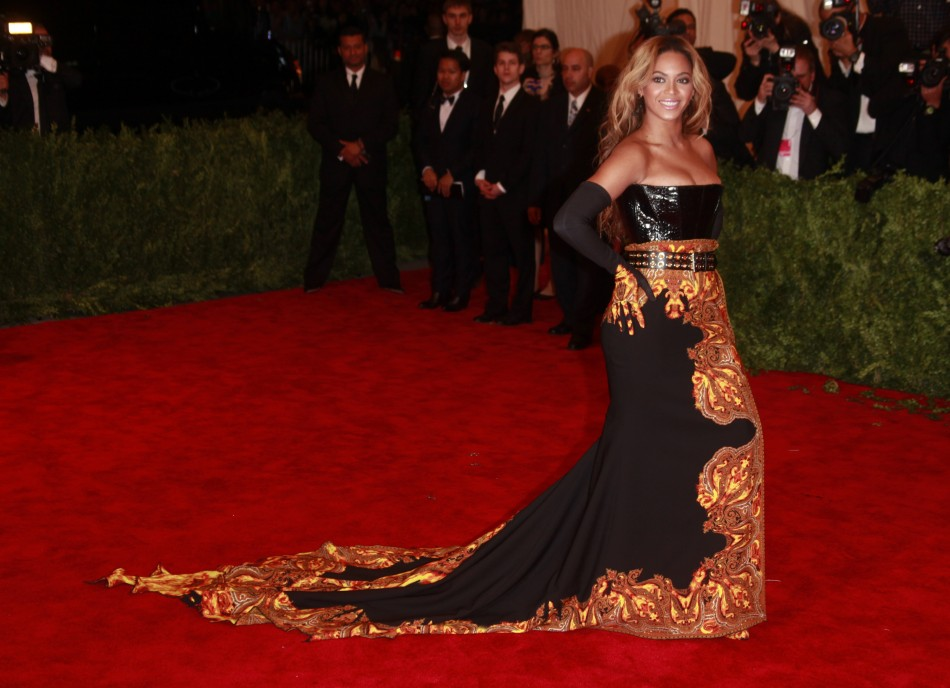 """Beyonce arrives at the Metropolitan Museum of Art Costume Institute Benefit celebrating the opening of """"PUNK: Chaos to Couture"""" in New York, May 6, 2013."""