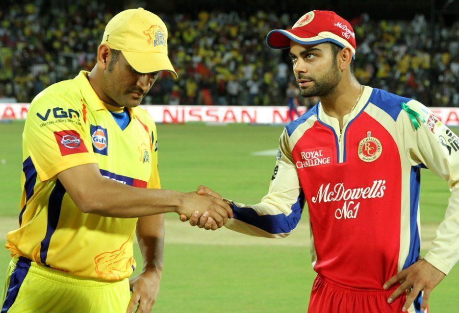 Image result for चेन्नई सुपर किंग्स और रॉयल चैलेंजर्स बेंगलुरु