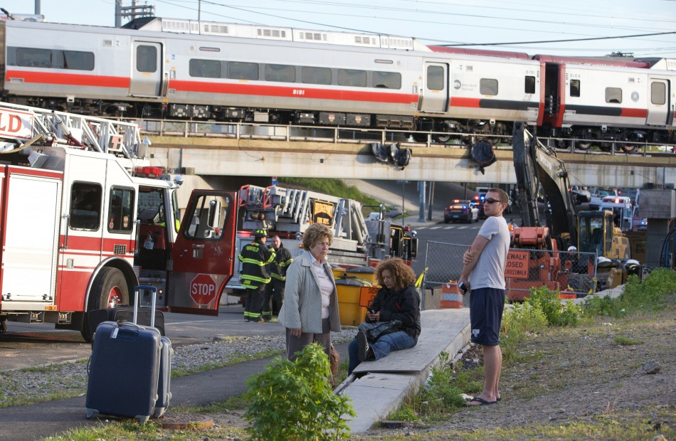 Train crash in Connecticut