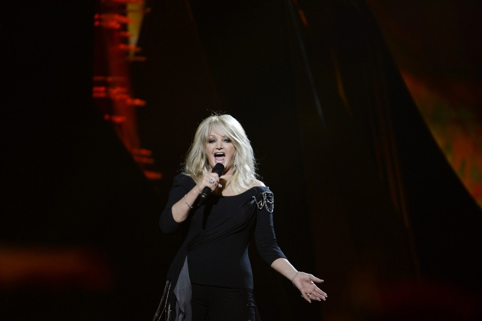 Bonnie Tyler of Britain performs the song Believe in Me during the final of the 2013 Eurovision Song Contest at the Malmo Opera Hall in Malmo May 18, 2013.