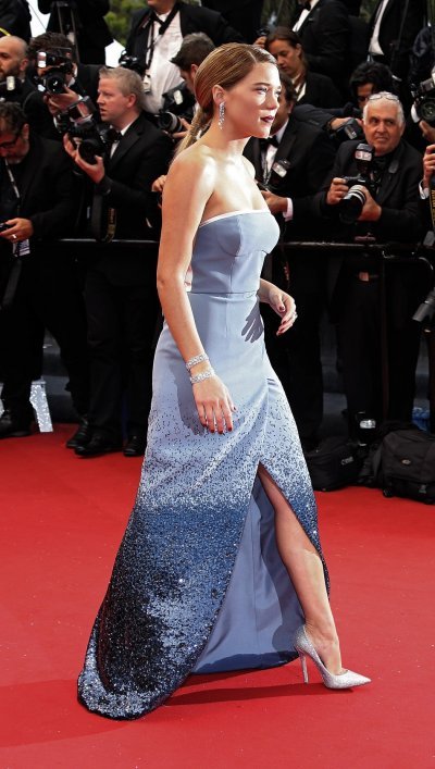 Cast member Lea Seydoux walks on the red carpet as she arrives for the screening of the film Grand Central in competition in Un certain Regard selection during the 66th Cannes Film Festival in Cannes May 18, 2013.
