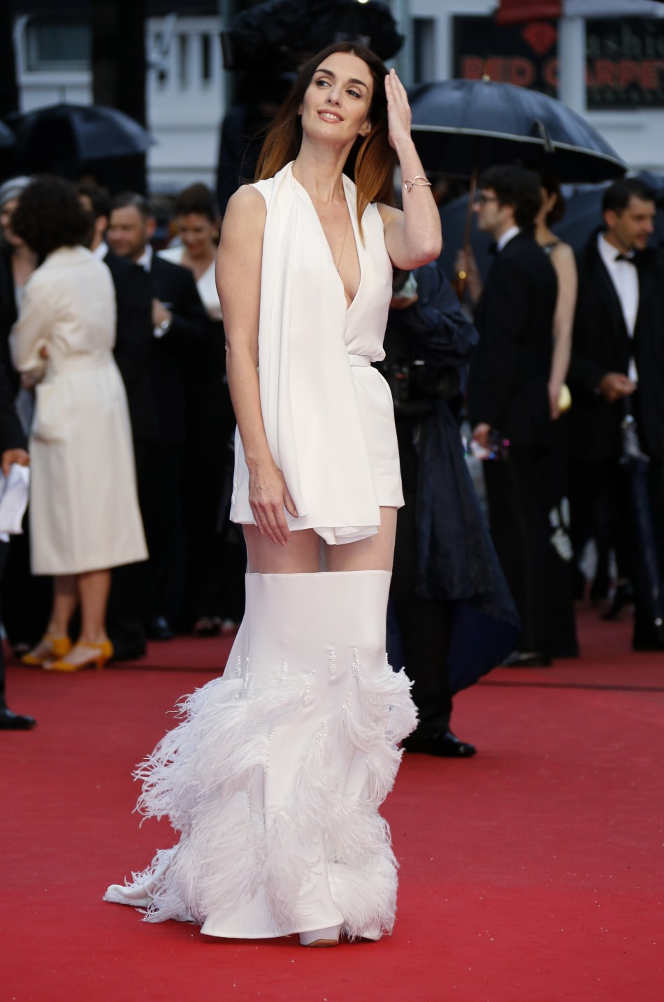 Actress Paz Vega poses on the red carpet as she arrives for the screening of the film Jimmy P. Psychotherapy of a Plains Indian in competition at the 66th Cannes Film Festival in Cannes May 18, 2013.