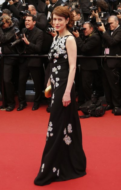 Cast member Gina McKee poses on the red carpet as she arrives for the screening of the film Jimmy P. Psychotherapy of a Plains Indian in competition at the 66th Cannes Film Festival in Cannes May 18, 2013.
