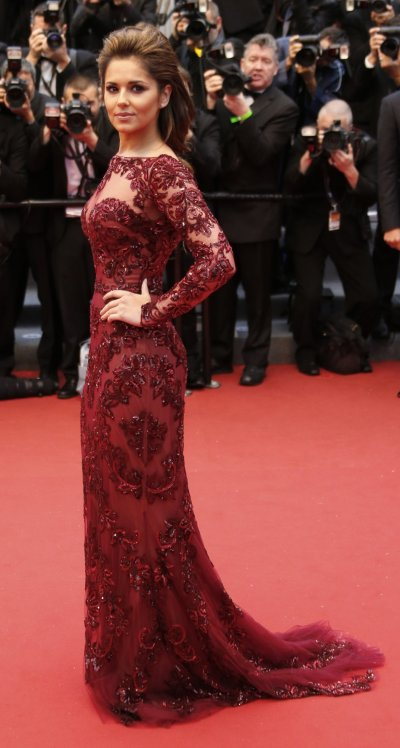 Singer Cheryl Cole poses on the red carpet as she arrives for the screening of the film Jimmy P. Psychotherapy of a Plains Indian in competition at the 66th Cannes Film Festival in Cannes May 18, 2013.